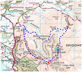 skiddaw route map